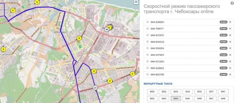 40 движения маршрутка чебоксары схема
