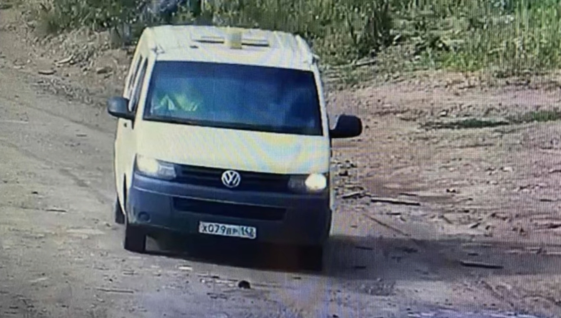 Угнанный фургон на выезде из Чебоксар